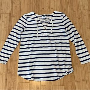 Old Navy striped top women's size M